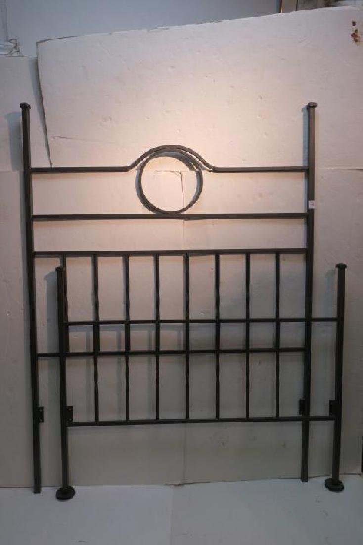 Art Deco Iron Bed, Headboard & Footboard: - 3