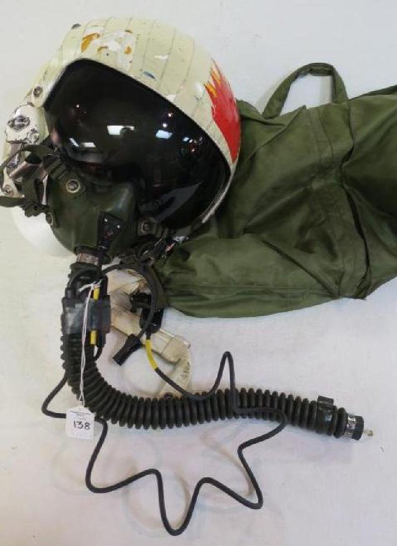 US NAVY Jet Pilot Helmet VA 128 and Helmet Bag: