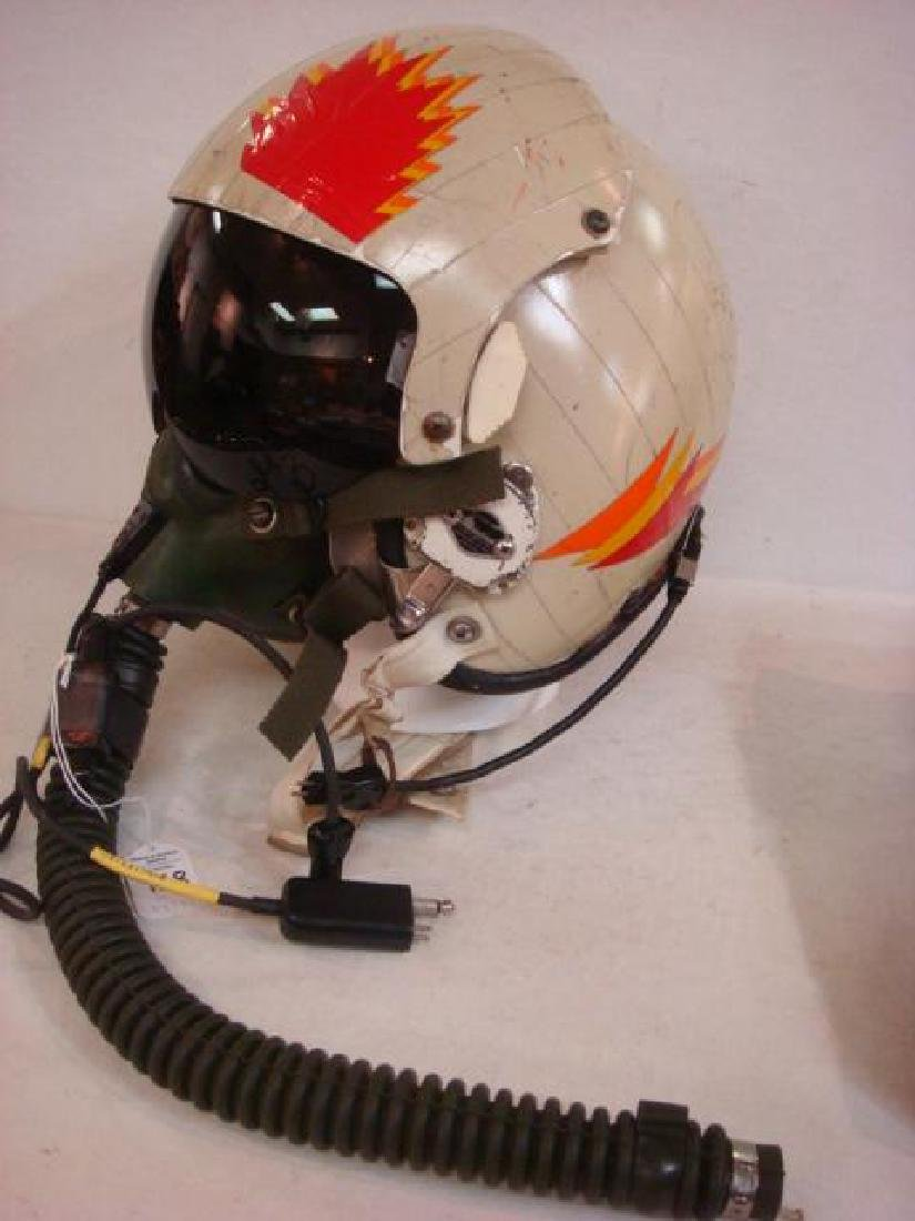 US NAVY Jet Pilot Helmet VA 128 and Helmet Bag: - 5