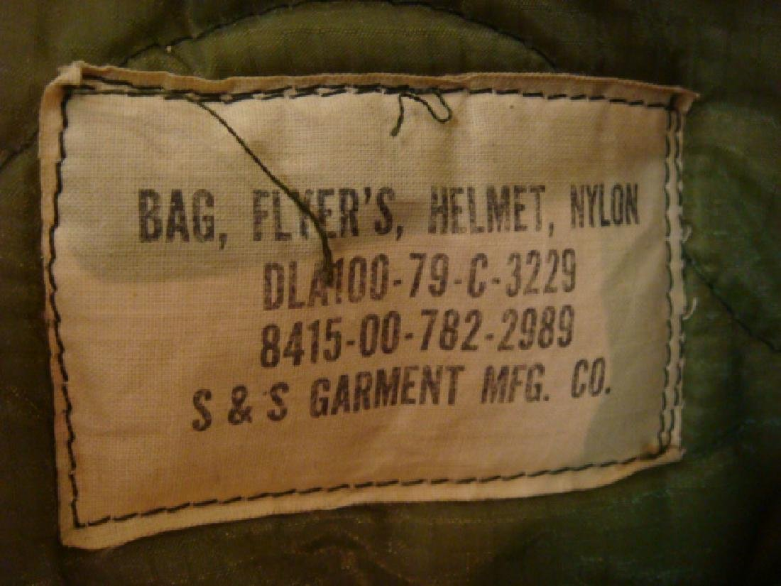 US NAVY Jet Pilot Helmet VA 128 and Helmet Bag: - 7
