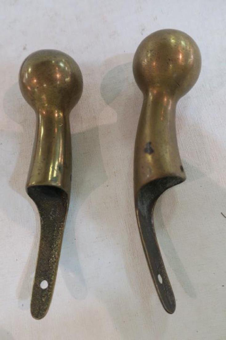 Brass Horse Comb and Ball Hames Caps: - 2