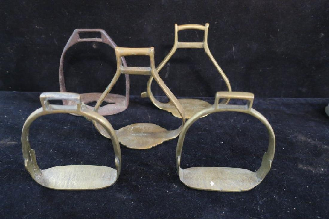 Seven Brass, Aluminum and Iron Open Style Stirrups: - 2