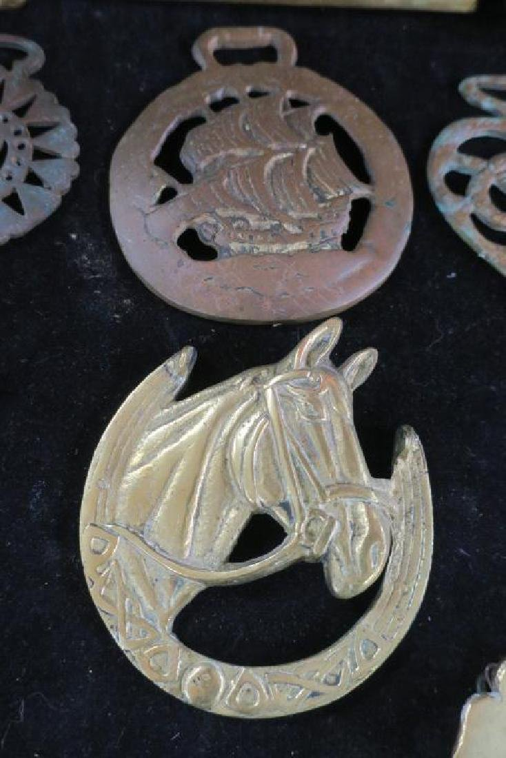 Eleven Brass Decorative Pieces for Coach or Harness: - 3