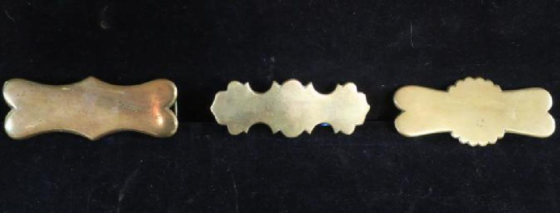 Eleven Brass Decorative Pieces for Coach or Harness: - 4