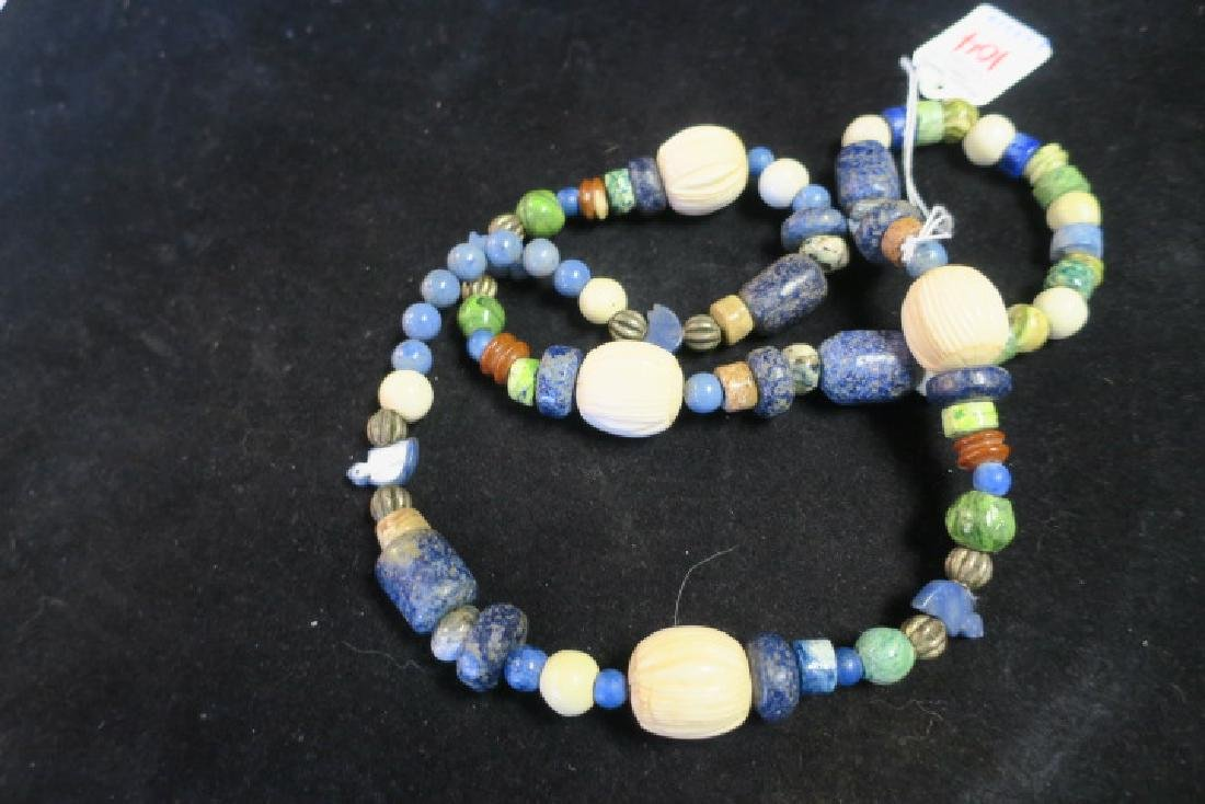 Handcrafted Chunky Bead Ethnic Necklace: - 2