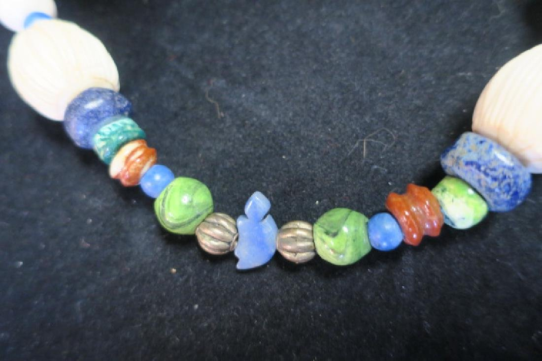 Handcrafted Chunky Bead Ethnic Necklace: - 3