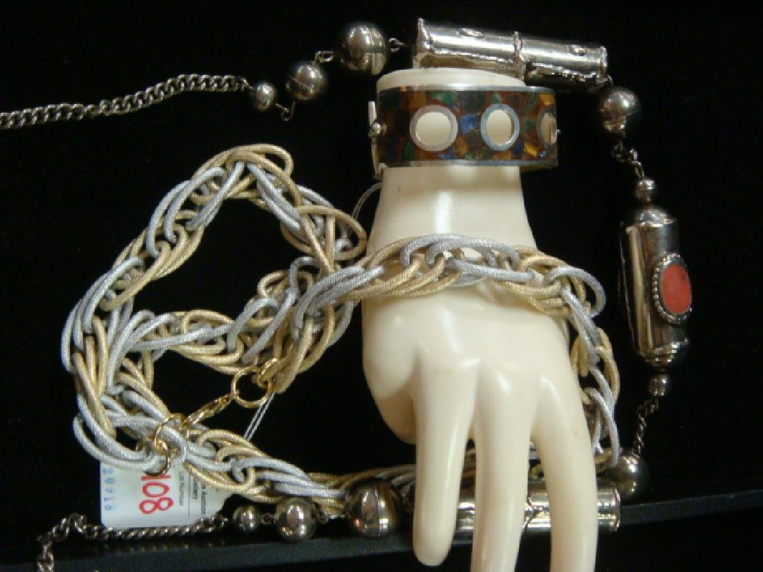 Tibetan Necklace, 925 Bracelet and Chain Necklace: