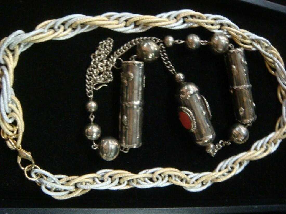 Tibetan Necklace, 925 Bracelet and Chain Necklace: - 3