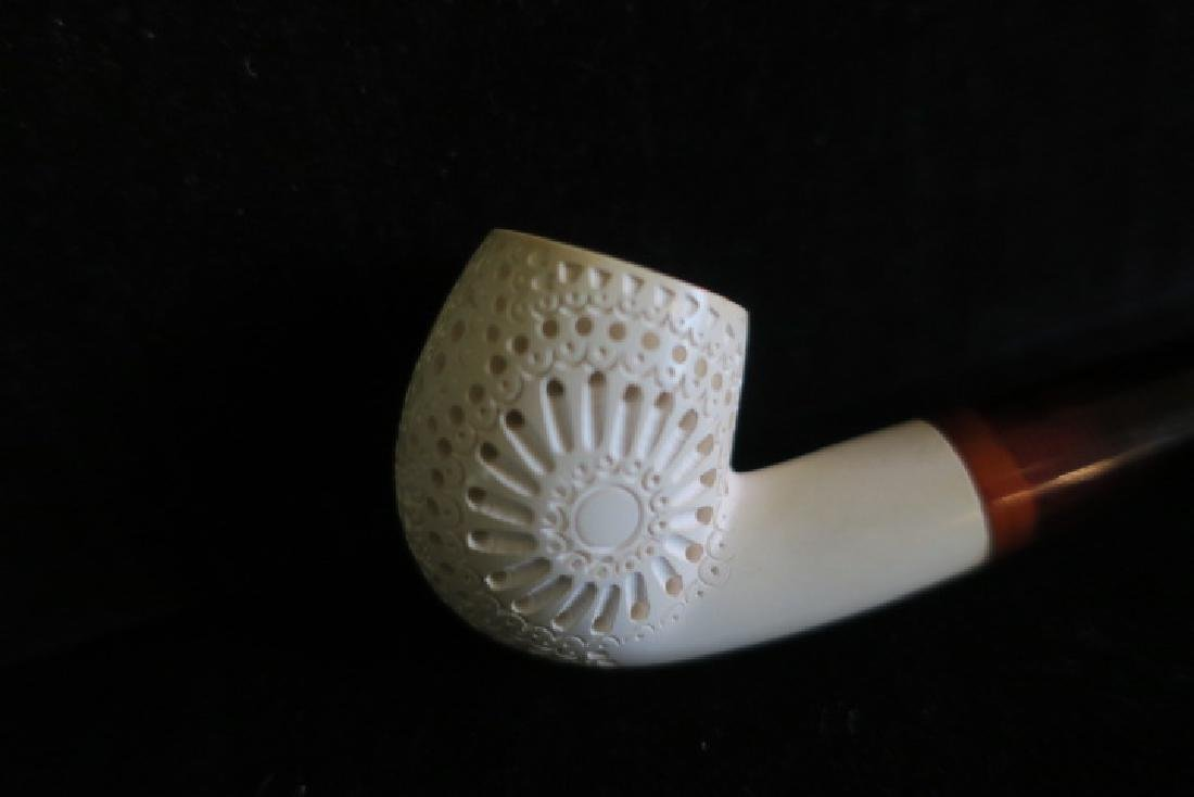 Two Meerschaum Pipes in Fitted Cases: - 6