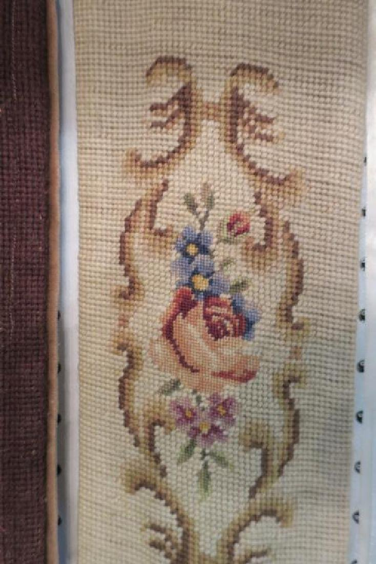 Two Vintage Needlepoint & Petit Point Bell Pulls: - 5
