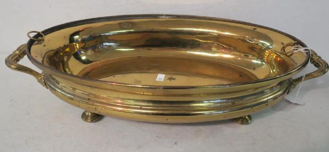 Antique CHRISTOFLE Brass Chafing or Warming Dish: