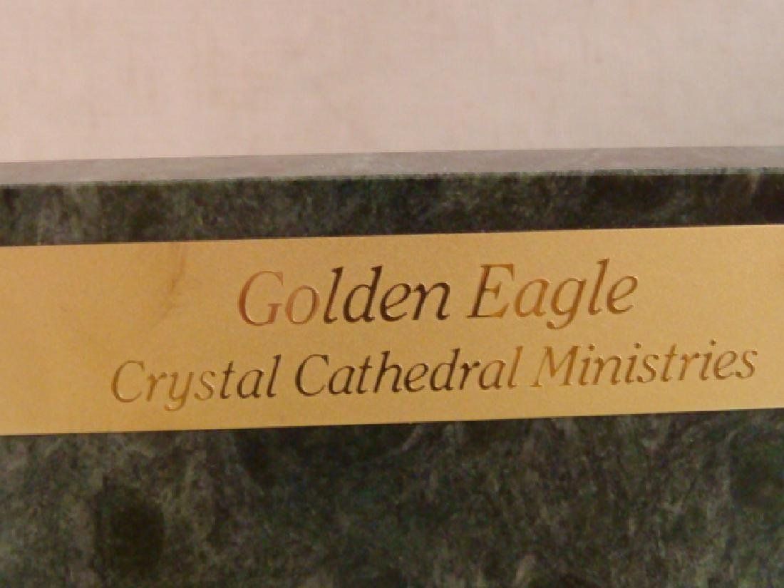 Brass & Marble Eagle Bookends from Crystal Cathedral: - 4