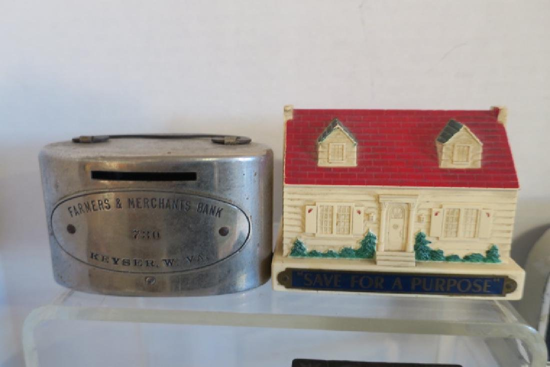 Collection of Eleven Vintage and Antique Penny Banks: - 3