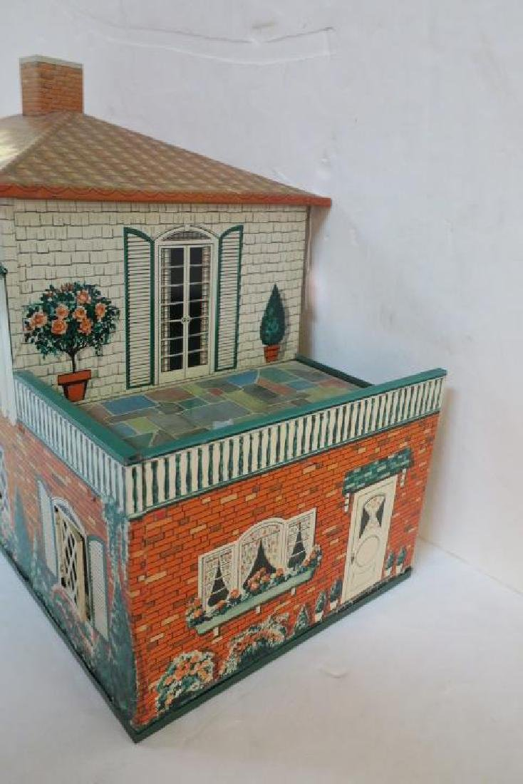 T. COHN 1948 Tin Litho Doll House with Furniture: - 3
