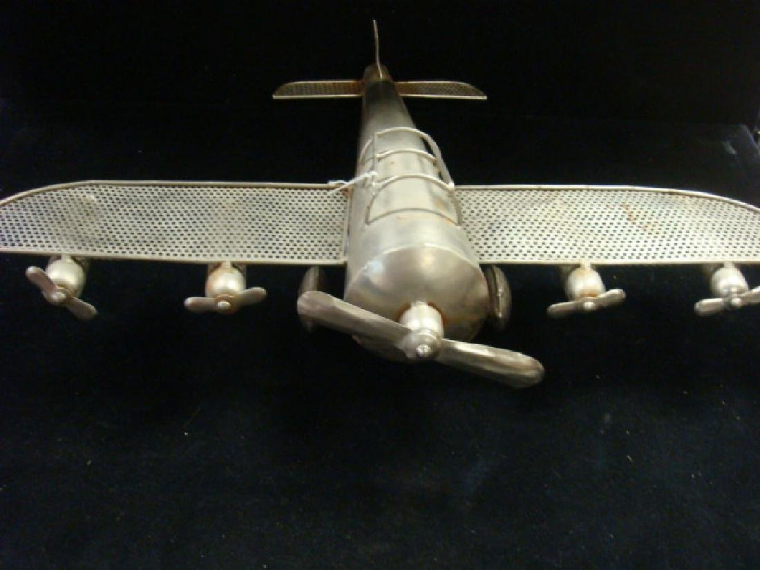 Five Engine WORLD WAR II Trench Art Bomber: