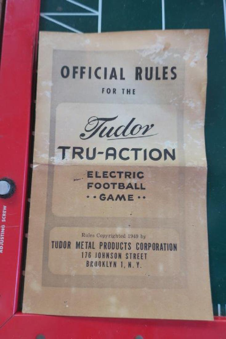 TUDOR TRU ACTION 1949 Electronic Football Game: - 3