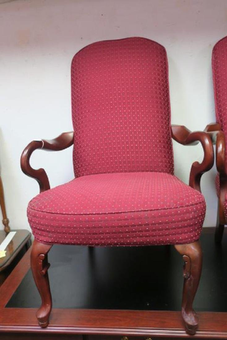 Pair of HAVERTY'S Upholstered High Back Arm Chairs: - 2