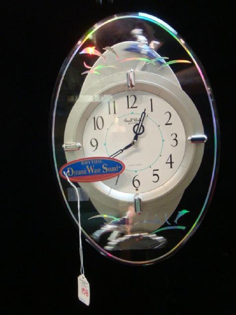 Small World Rhythm Dolphin Musical Wall Clock: