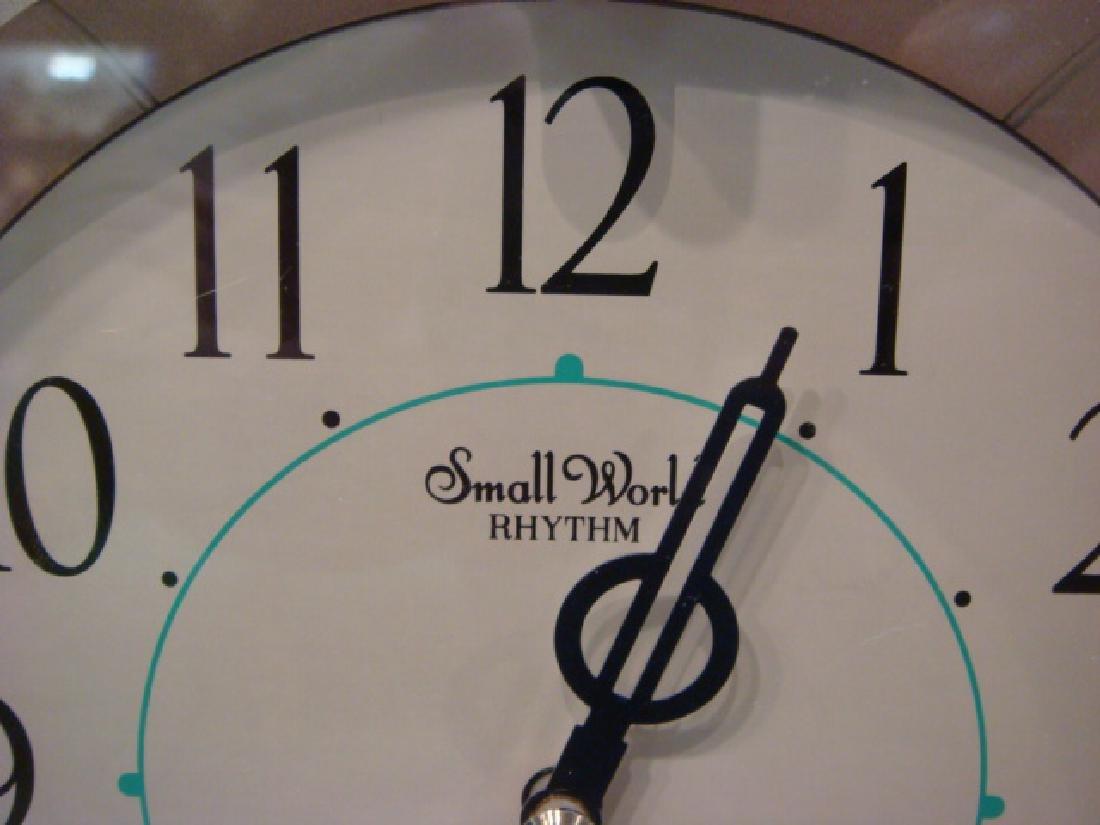 Small World Rhythm Dolphin Musical Wall Clock: - 2