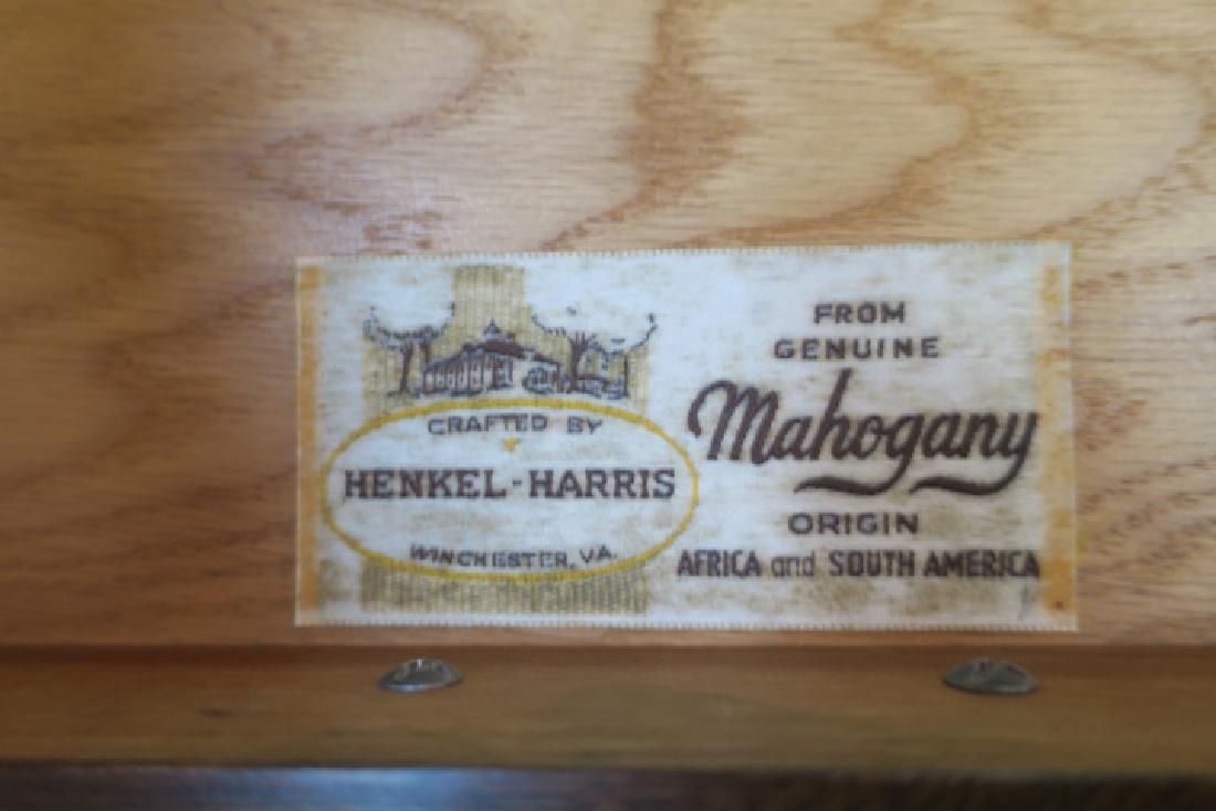 HENKEL HARRIS Mahogany Single Drawer Side Table: - 4
