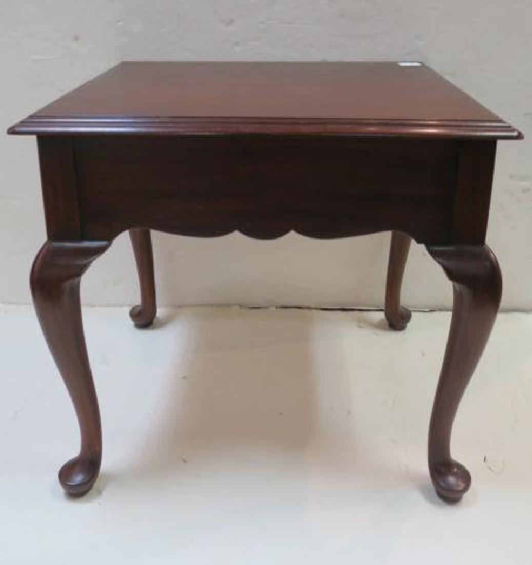 HENKEL HARRIS Mahogany Single Drawer Side Table: - 5