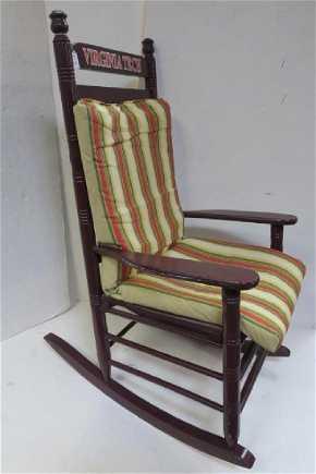 Virginia Tech Er Barrel Rocking Chair