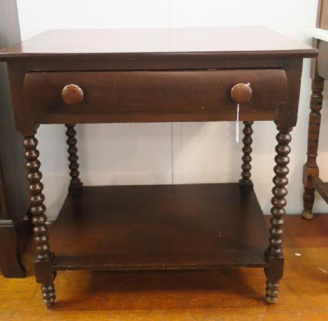 Mahogany Side Table with Single Drawer: