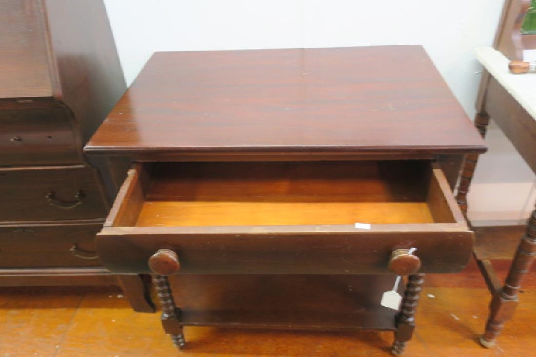 Mahogany Side Table with Single Drawer: - 2