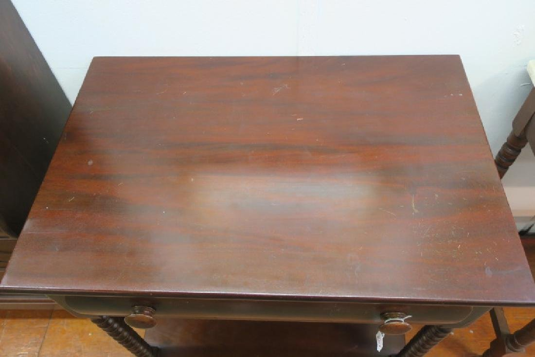 Mahogany Side Table with Single Drawer: - 3