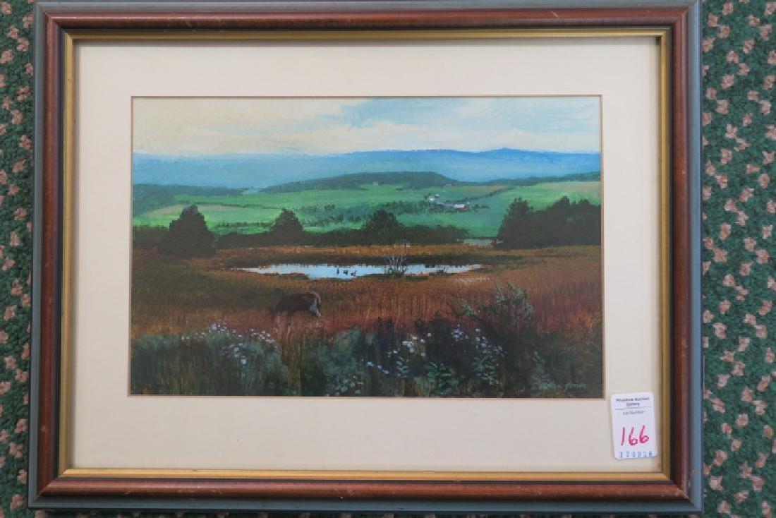 Mountain Pond Acrylic on Paper by ALLAN JONES: