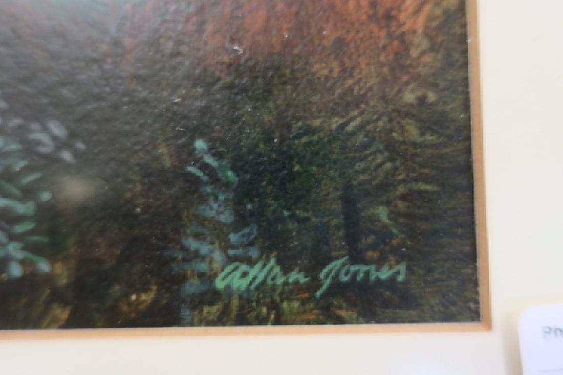 Mountain Pond Acrylic on Paper by ALLAN JONES: - 3