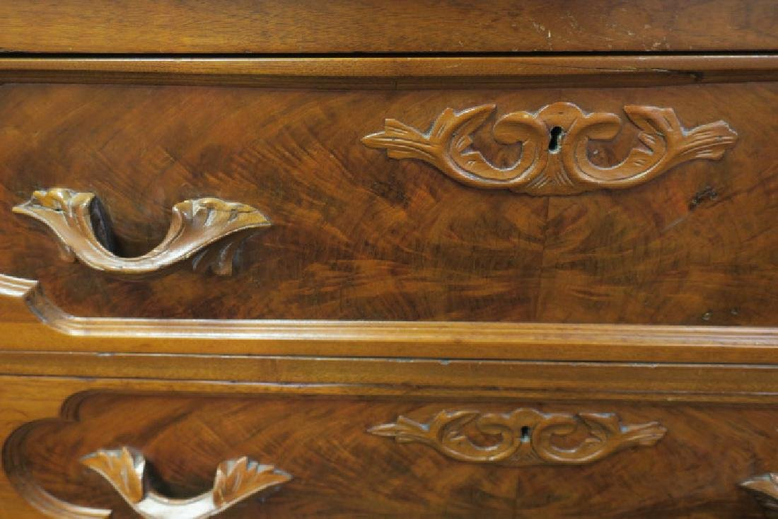 Cherry 19th C. Marble Drop Center Chest with Mirror: - 3