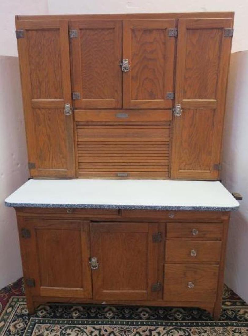 GI SELLERS Oak Hoosier Kitchen Cabinet: