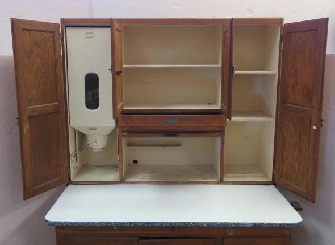 GI SELLERS Oak Hoosier Kitchen Cabinet: - 2