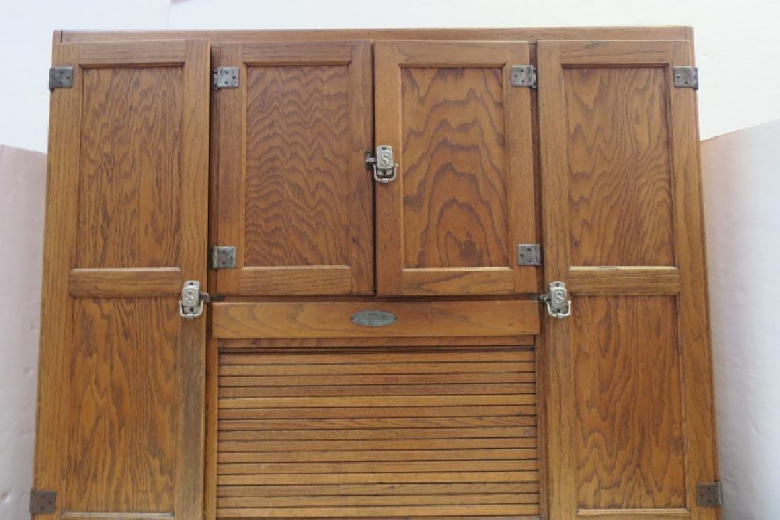 GI SELLERS Oak Hoosier Kitchen Cabinet: - 3