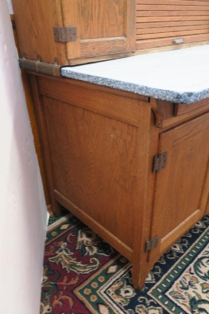 GI SELLERS Oak Hoosier Kitchen Cabinet: - 6