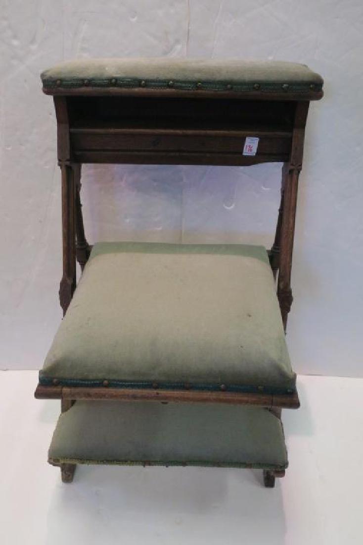 Vintage Oak Padded Kneeler Prie-Dieu: