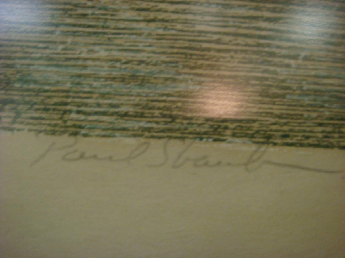 PAUL SHAUB Hand colored Woodcut Print: - 3