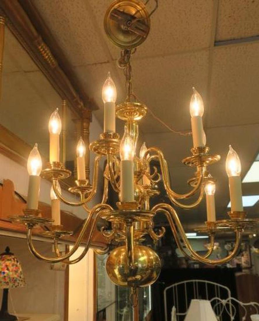 Two Tier Williamsburg Style 12 Light Chandelier: