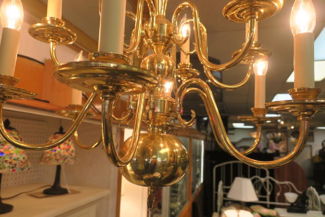 Two Tier Williamsburg Style 12 Light Chandelier: - 2