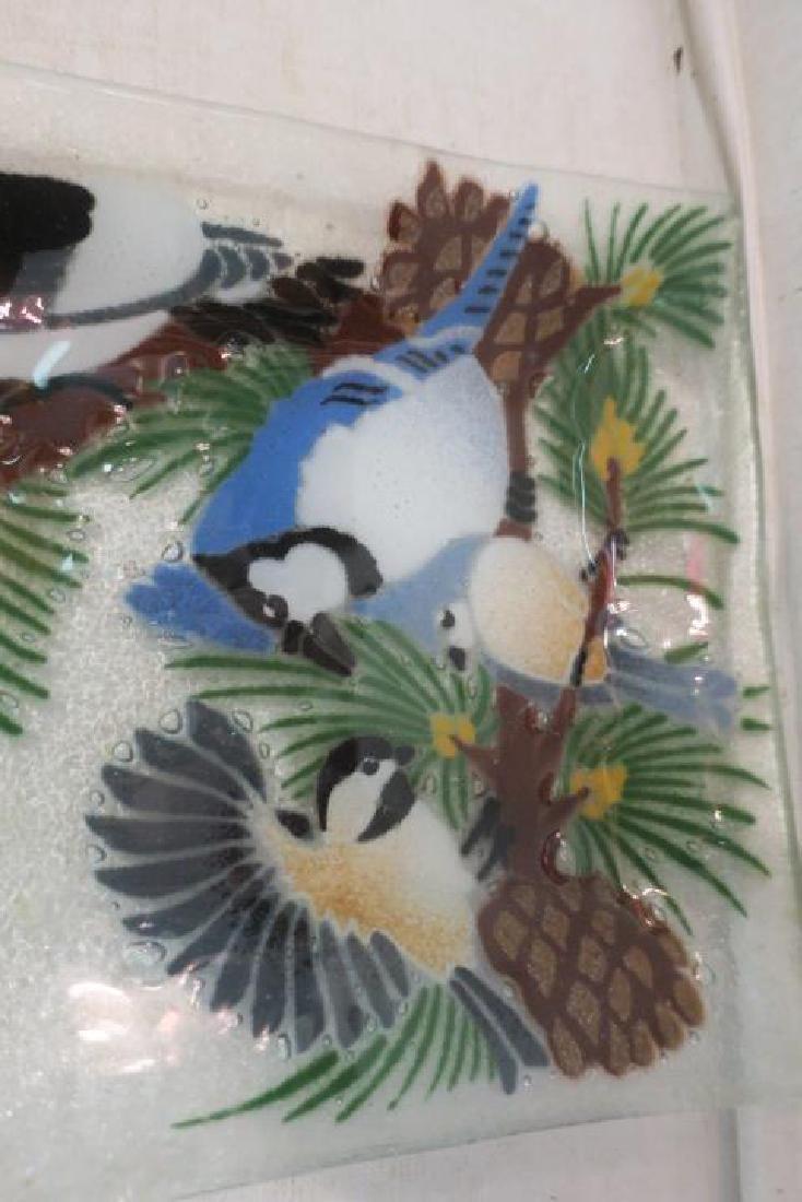 PEGGY KARR Fused Glass Bird Tray: - 2