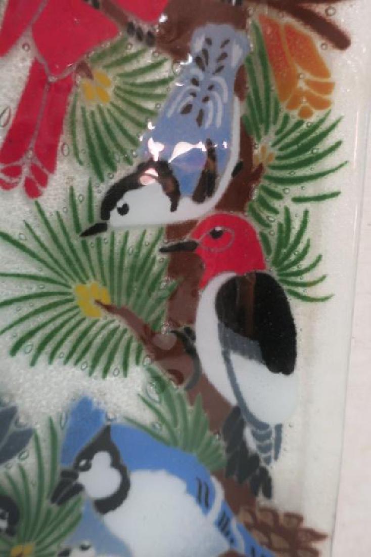 PEGGY KARR Fused Glass Bird Tray: - 3