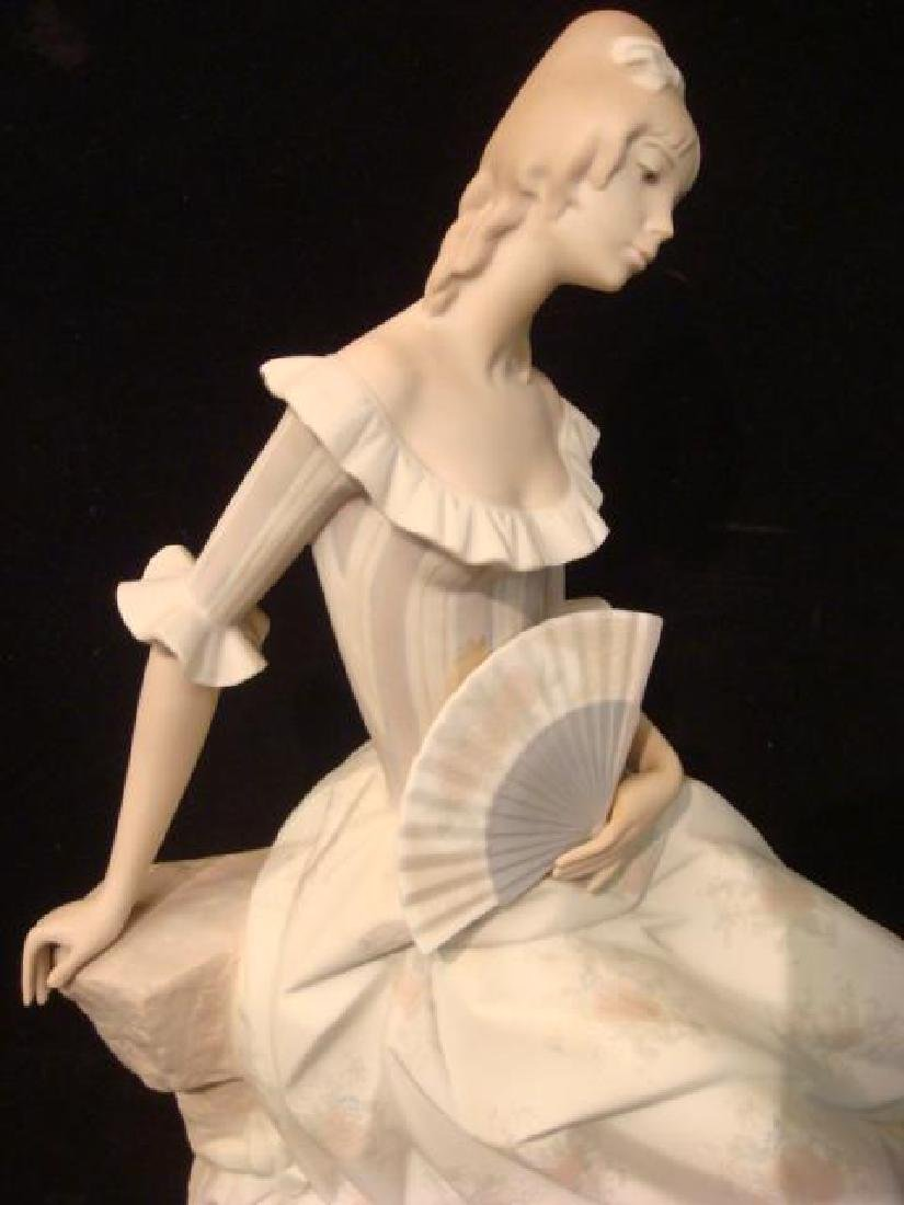 "LLADRO ""Lady with Fan"" Porcelain Figurine: - 2"