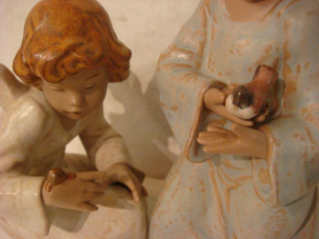 LLADRO Seaside Angel and Friends in Flight Figurines: - 2