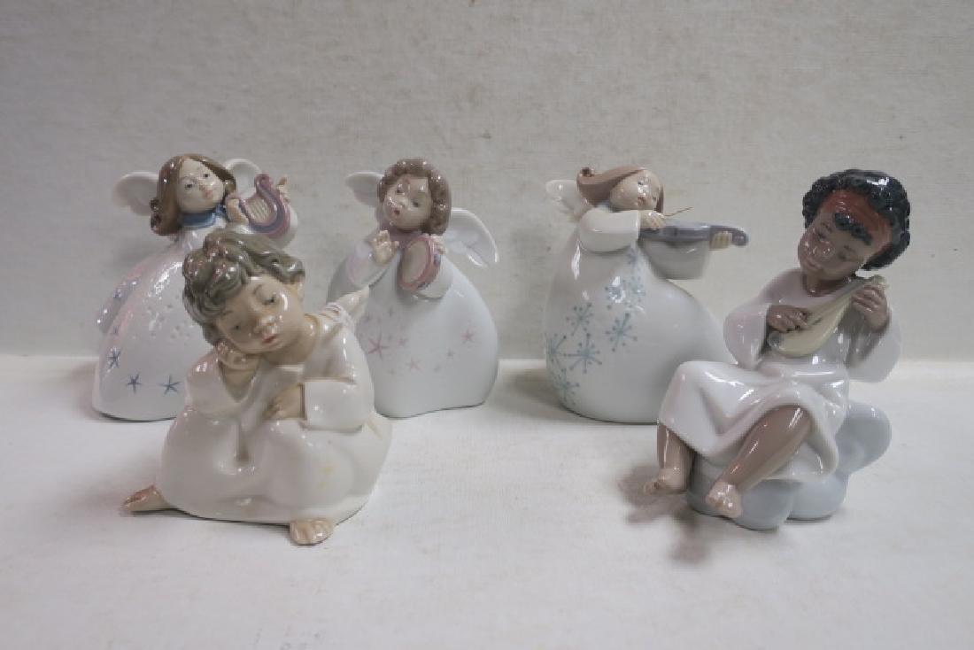 Five LLADRO Porcelain Angels: