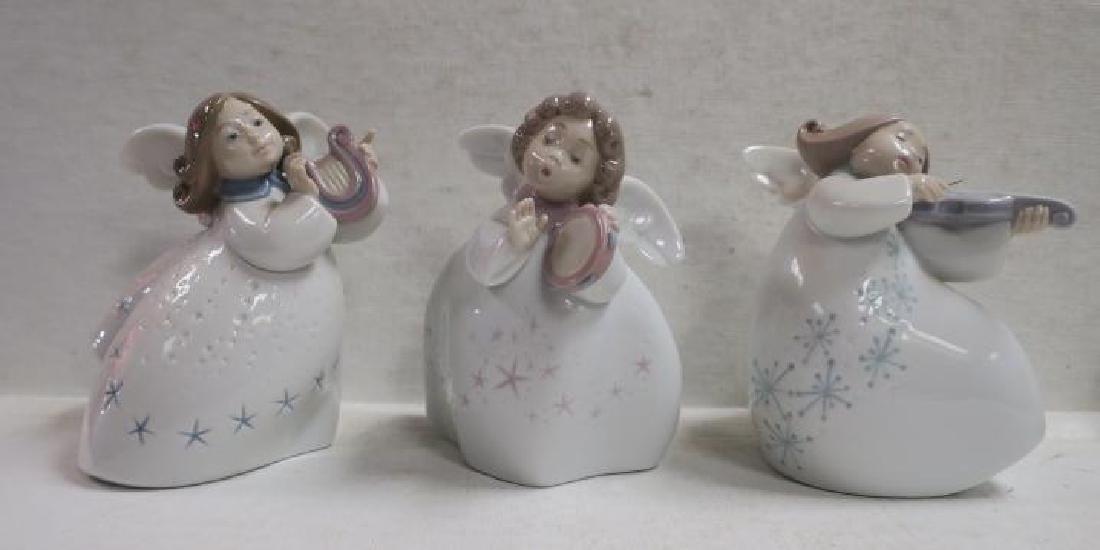 Five LLADRO Porcelain Angels: - 2