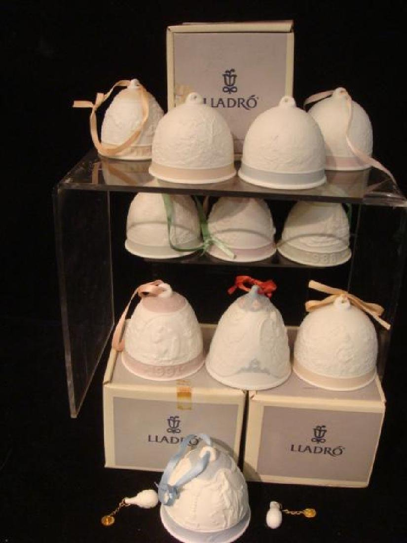 Seventeen LLADRO Christmas and Seasons Bells:
