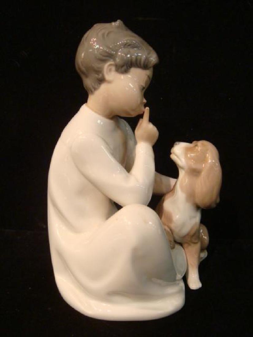 """LLADRO """"Boy with Dog"""" Figurine: - 2"""