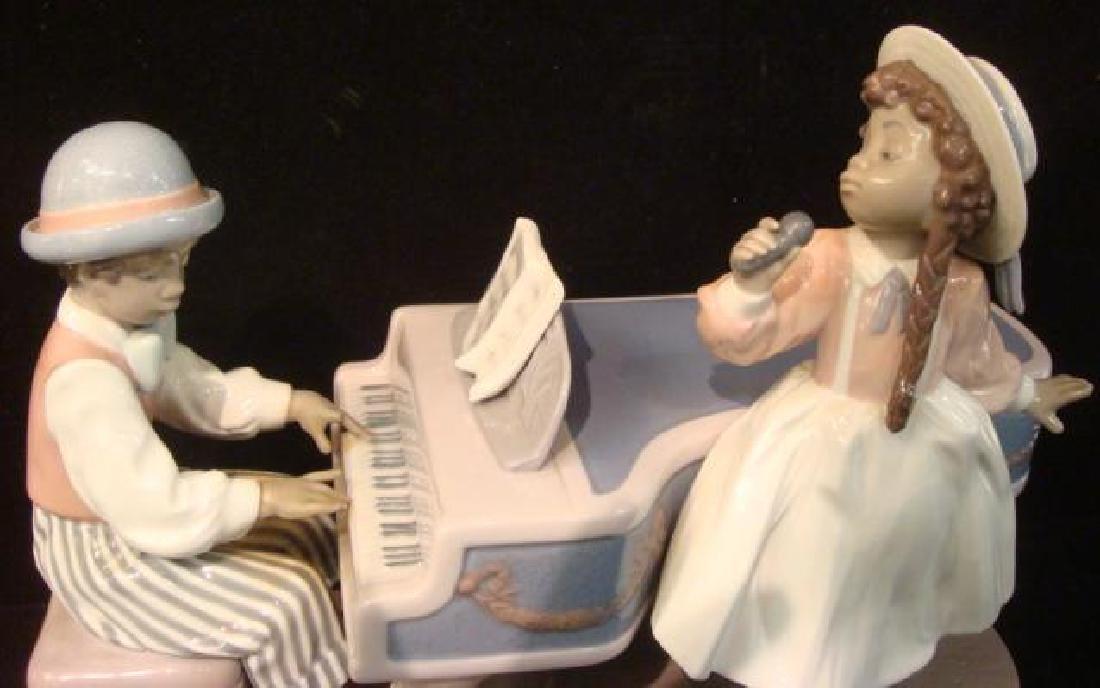 "LLADRO ""Jazz Duo"" Large Figurine: - 2"