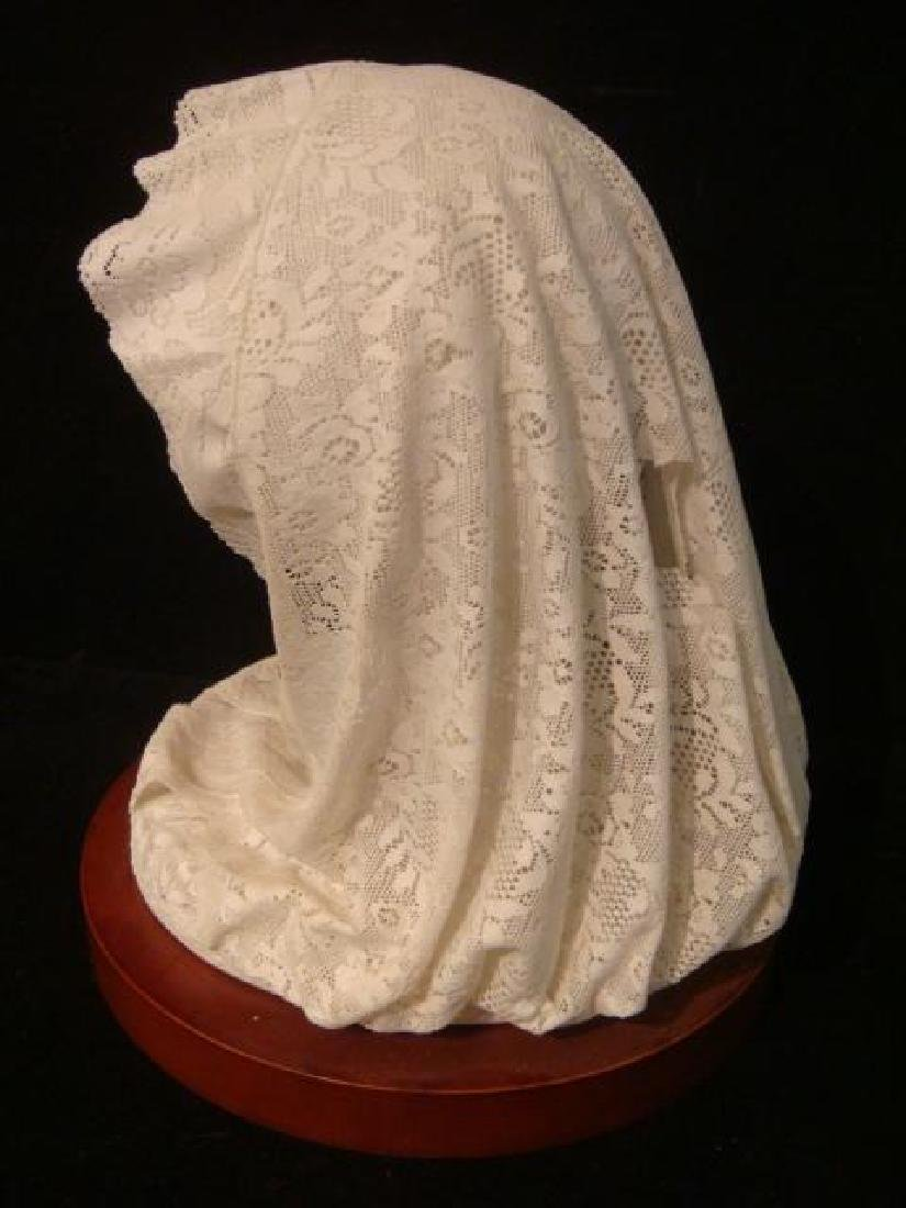 """LLADRO Porcelain Lace """"Small Bust with Veil"""": - 2"""